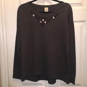 Faded Glory Tops - Stone embellished sweatshirt